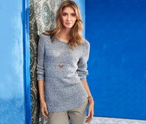 Women's Knitted Sweater, Blue