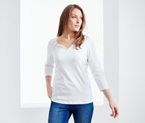 Women's 3/4 Sleeve Shirt, White