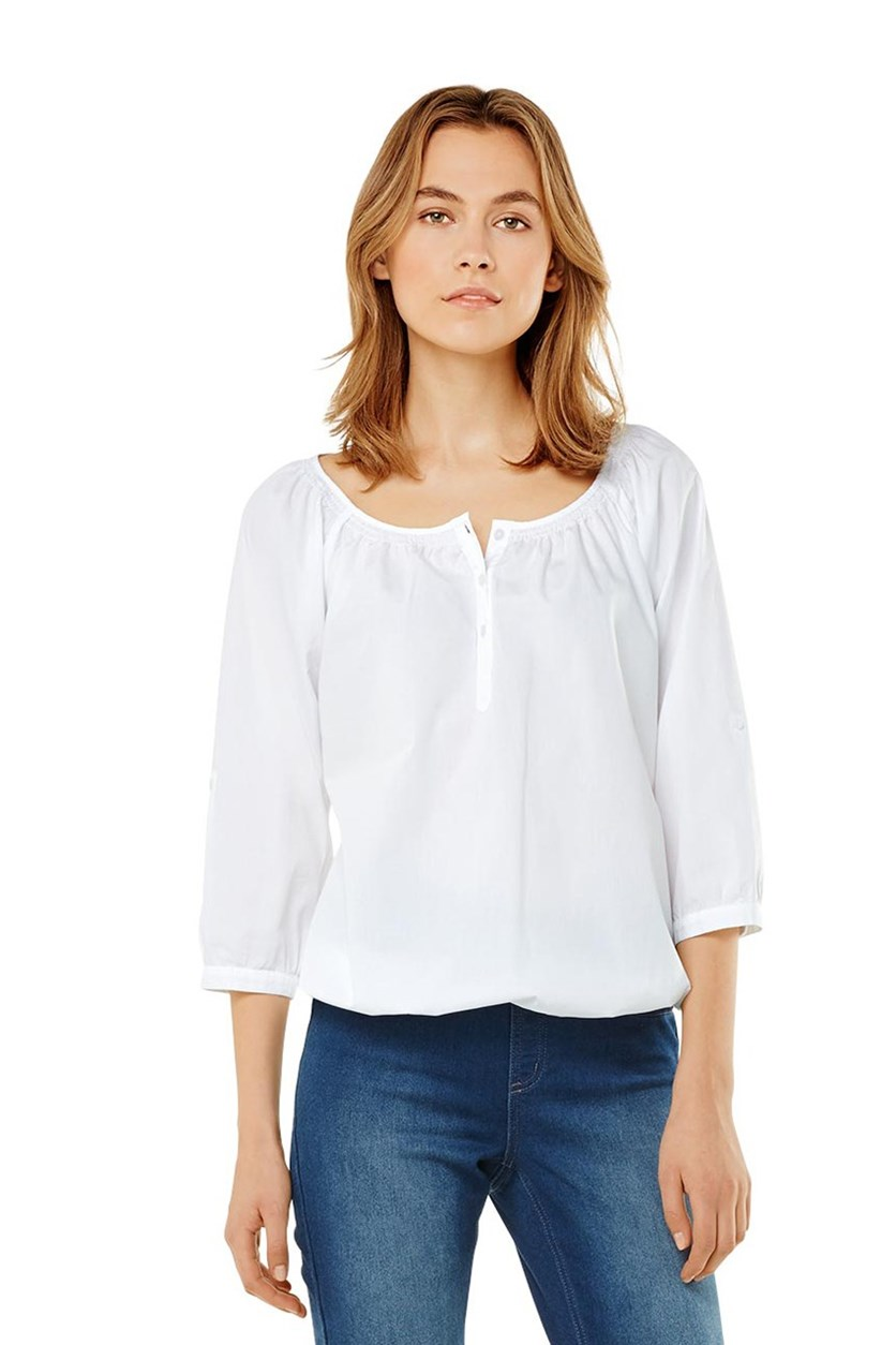 Women's Tunic Blouse, White