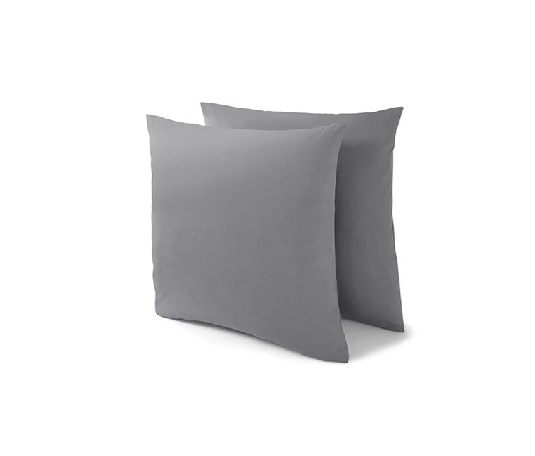 Jersey Pillowcases Set of 2 80x80, Grey
