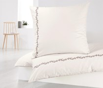 Satin Duvet Set, 135x200 cm, White/Grey