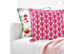 Decorative Pillow Case 50 x 50 cm, White/Pink