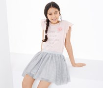 Girls Tulle Skirt, Grey