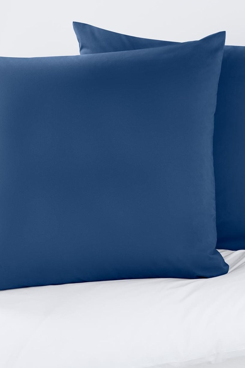 Percale Pillowcases Set of 2 80 x 80 cm, Blue