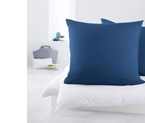 2 Pillowcases Of Jersey, Blue