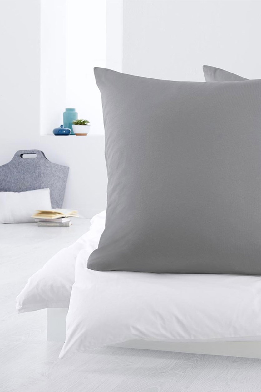 2 Jersey Pillowcase,80x80 cm, Grey