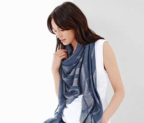 Women's Scarf, Blue