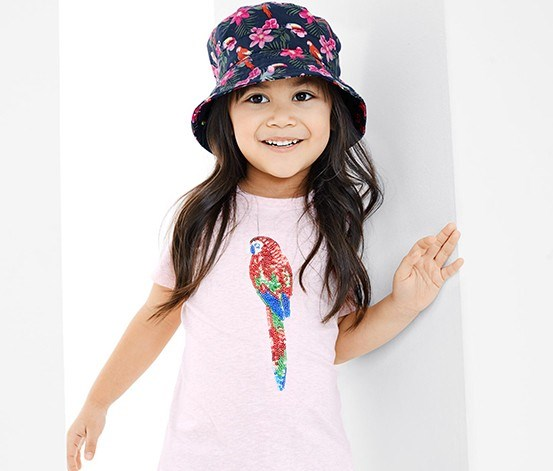Girl's Sun Hat, Navy