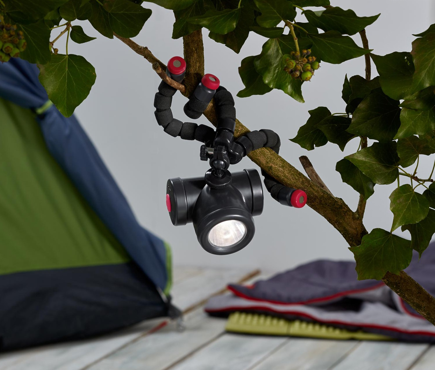 Functional Outdoor Lamp With Camera Adaptor, Anthracite