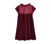 Good Lad Little Girls Velvet Dress, Burgundy