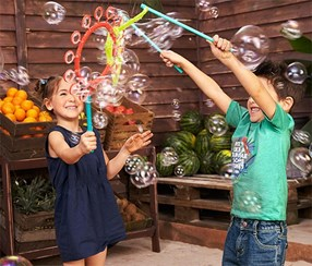 Giant Soap Bubble Set, Blue/Red/Yellow