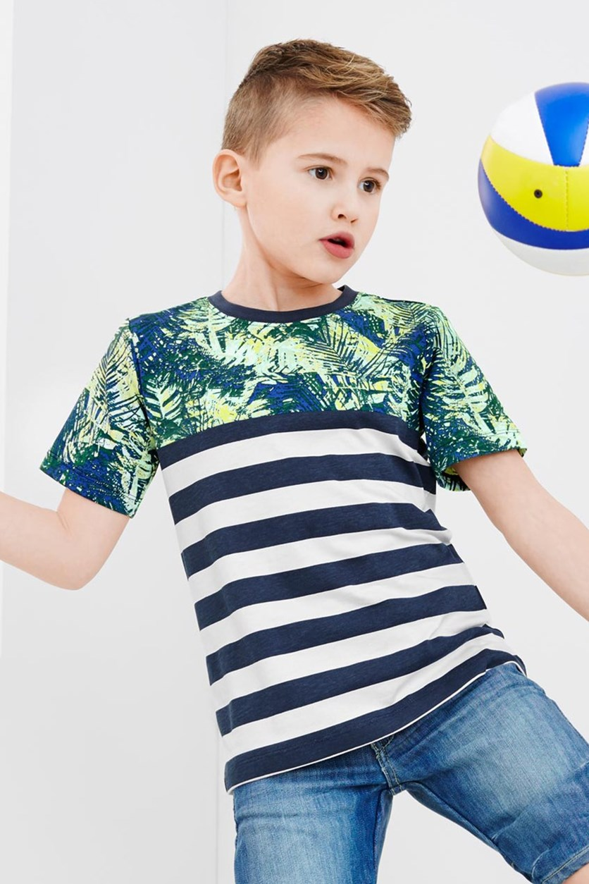 Boys T-shirt, Blue Stripe