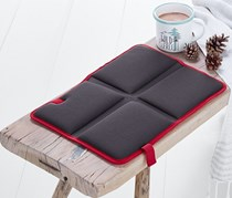 Folding Thermal Cushion, Dark Grey/Red