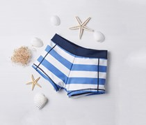 Boys Swim Short, Blue/White Stripes