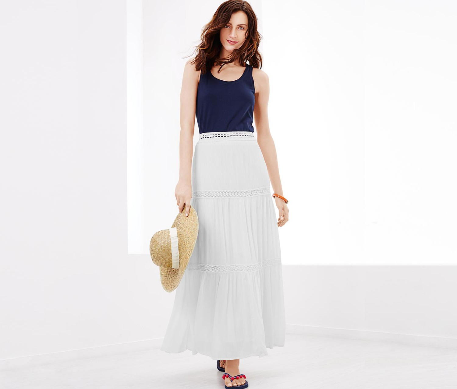 Women's Maxi Skirt, White