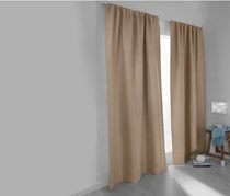 Dark Curtain Set of 2, Greyish Brown