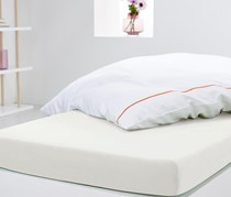 Jersey Fitted Sheet 140 x 200 cm, White