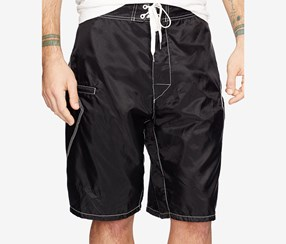 Denim & Supply Ralph Lauren Ripstop Surfer Shorts, Black