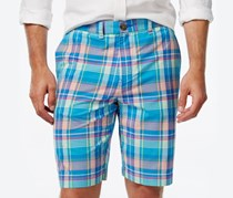 Men's Haaz Madras Classic-Fit Plaid Shorts, Blue