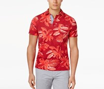 Men's Kevin Graphic Print Short-Sleeve Polo, Red