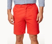 Tommy Hilfiger Men's Classic-Fit Chino Shorts, Red