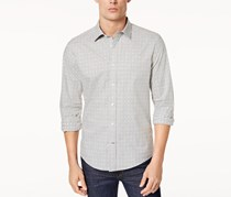 Mens Star-Pattern Shirt, Grey Heather