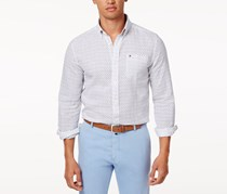 Tommy Hilfiger Mens Floral Shirt, Bright White