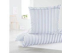 Percale Duvet Set 135 x 200 cm, White/Blue/Grey