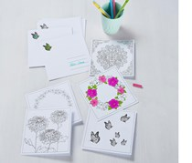 Greeting Cards For Colouring, White