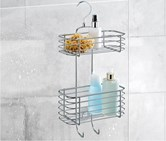 Shelf With Shower Cabin, Silver