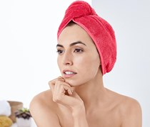 Turban Towel, Flamingo Red