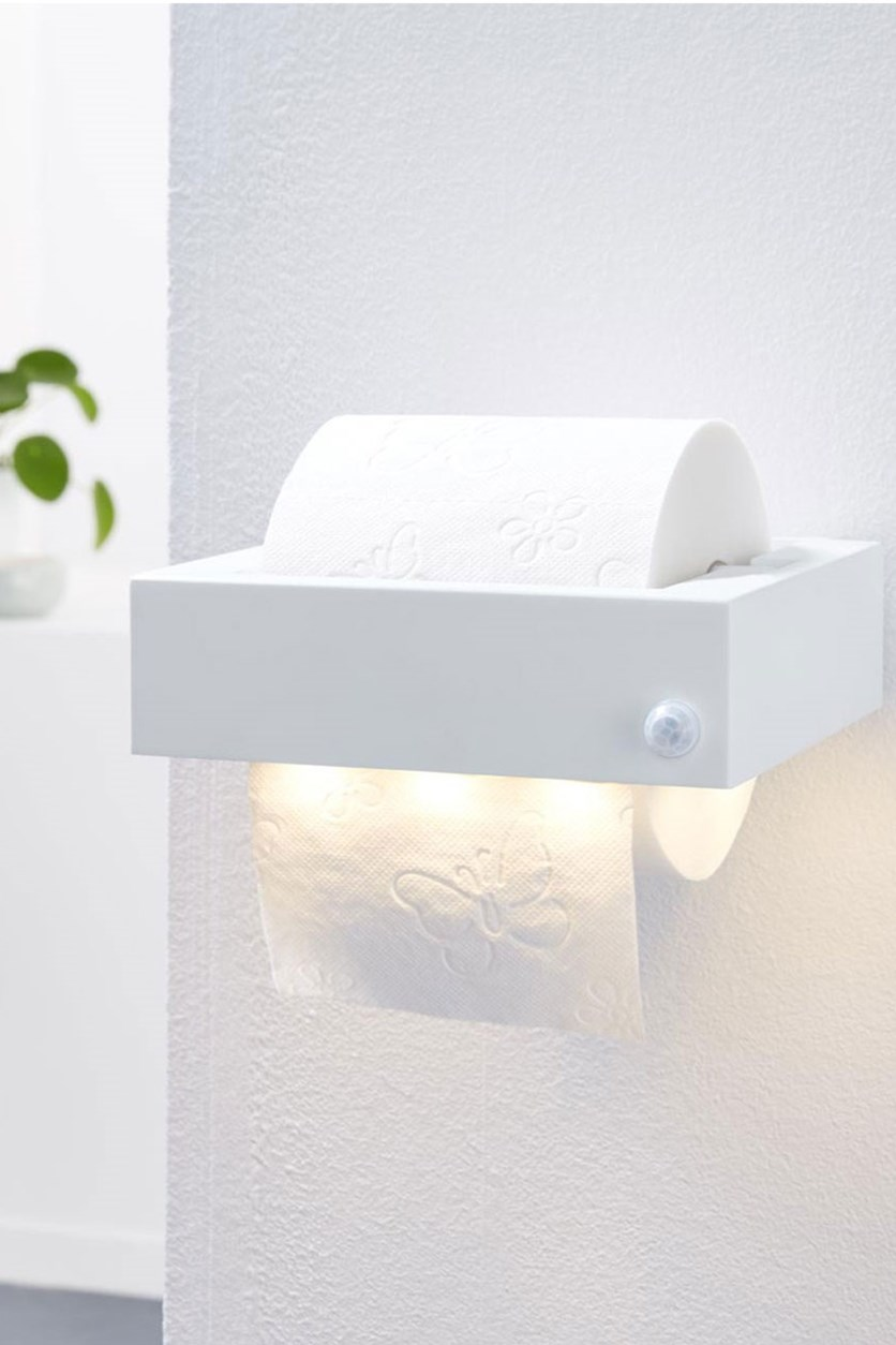LED Toilet Paper Holder, White