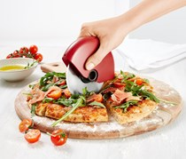Pizza Slicer, Red/Silver