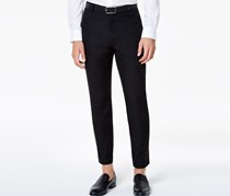 INC Mens Slim-Fit Ankle-Length Pants, Deep Black