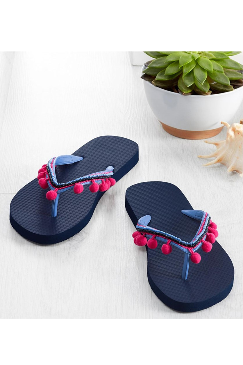 Women's Thong Sandal, Dark Blue