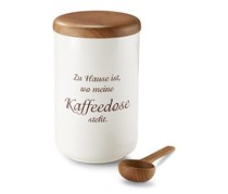 Barista Coffee Can With Coffee Lot, White