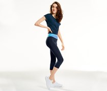 Women's 3/4 Sports Tight, Navy