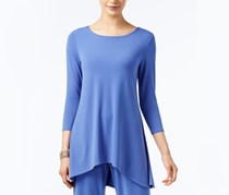 Alfani Petite High-Low Jersey Tunic, Alf Perry Blue