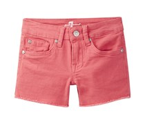7 for all Mankind Raw Edge Girl's Short,Coral