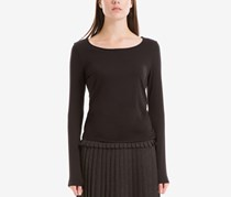 Max Studio London Side-Knot Top, Black