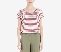 Women Striped Short-Sleeve T-Shirt, Red/White