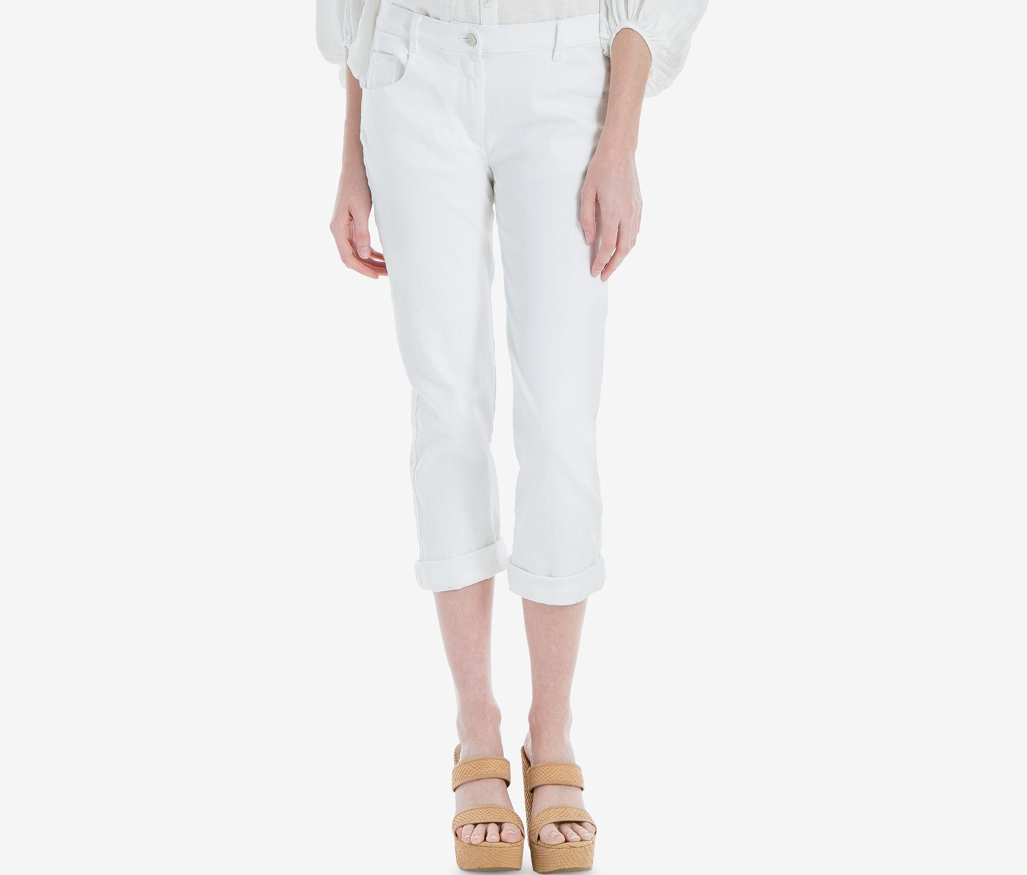Max Studio London Skinny Jeans, White