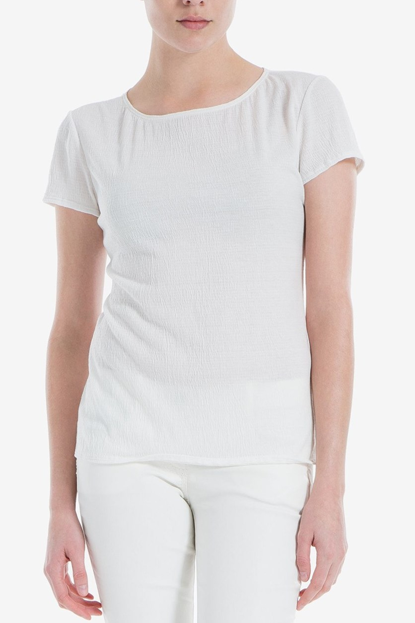 London Cotton-Blend T-Shirt, Ivory