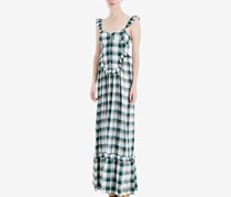 Max Studio London Plaid Maxi Dress, Dark Green