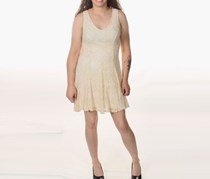 Bar Iii Lace A-line Dress, Sand Dollar
