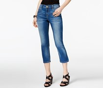International Concepts Cropped Straight-Leg Jeans, Indigo