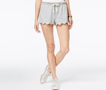 American Rag Embroidered Scalloped Soft Short, Heather Grey