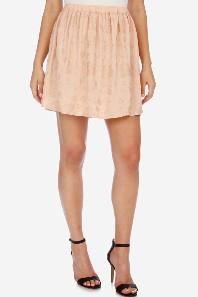 Mini A-Line Skirt, Blush