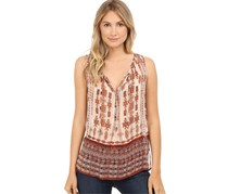 Lucky Brand Printed Peasant Blouse, Natural Multi