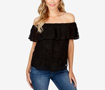 Lucky Brand Off-The-Shoulder Top, Black